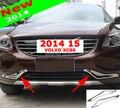 Новое Поступление Гоночный Автомобиль Решетка Передняя Решетка Планки Украшения ABS Chrome Внешние Аксессуары Для VOLVO XC60 2014 до бесплатная доставка