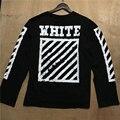 De alta calidad de los hombres \ mujeres camiseta nueva de la manera brand clothing ropa de manga larga t-shirt par tee off white más el tamaño s-xxxl