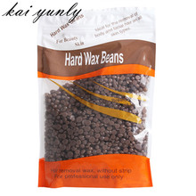 1PC Hard Wax Beans No Strip Depilatory Hot Film Hard Wax Pellet Waxing Bikini Hair Removal Bean Coffee wholesale Dec 15
