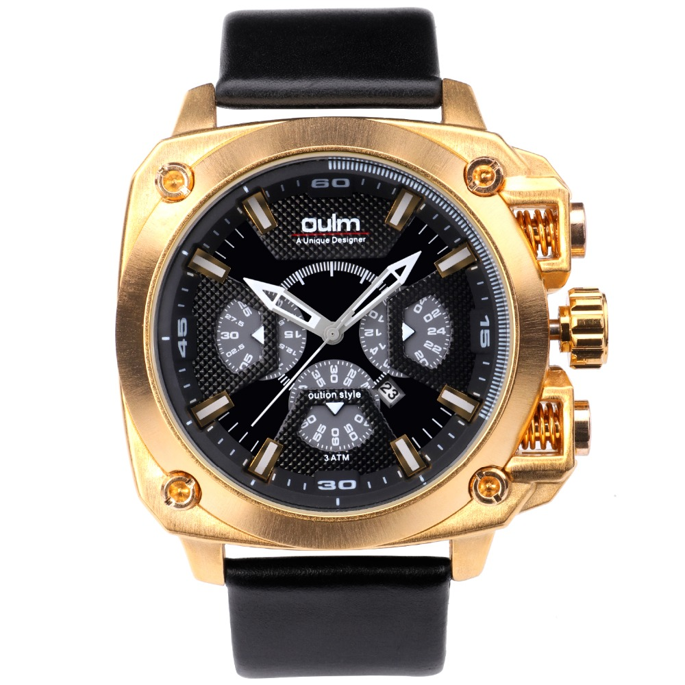 OULM 3705 Brand Luxury Design Army Japan Movt Quartz dz Watch Male Sport Montres de Marque de Luxe Reloj Hombre