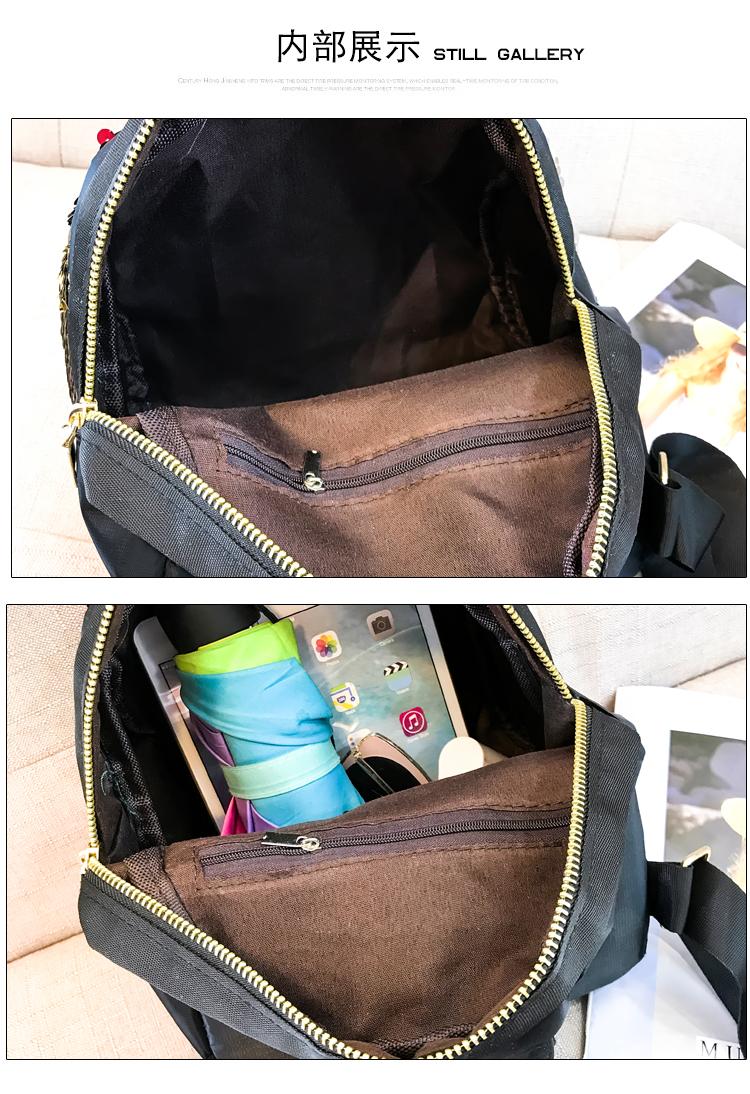 Backpacks women Korean mini 2018 new sequined shell fashion trend women go with small backpacks travel backpack 91