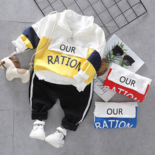 цена Toddler Baby Boy Girls Casual Clothes Set Outfits Spring Autumn Boys Sports Clothes Tracksuit Suits For Kid Clothing E0315 в интернет-магазинах