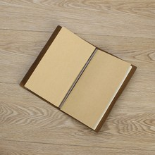 Kicute 1pc Vintage Leather Cover Notebooks Diary Journals