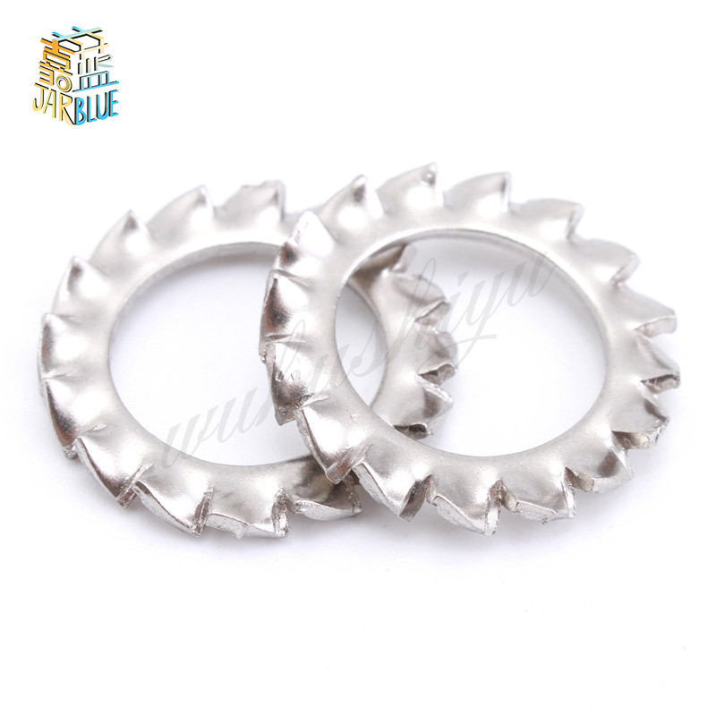 100Pcs DIN6798A M2.5 M3 M4 M5 M6 M8 M10 304 Stainless Steel Washers External Toothed Gasket Washer Serrated Lock Washer цены