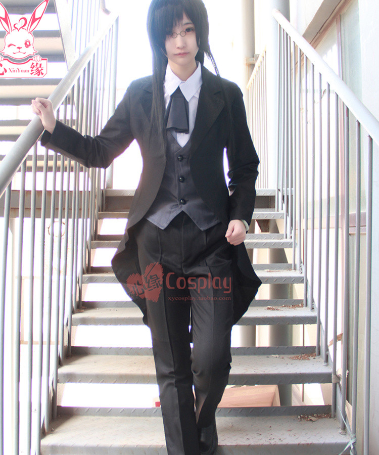 Anime Miss Kobayashi Dragon Maid Lorelei Fafnir cosplay costume avec chemise gilet manteau pantalon cravate
