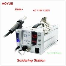 Продукт AOYUE 2702A+ паяльная станция с горячим воздухом Бессвинцовая Ремонтная система мульти-фонкция 4 в 1 Бессвинцовая паяльная станция