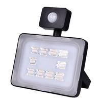2pcs 30W PIR LED Flood Light 220-240V IP67 3600LM Motion Sensor Floodlight SMD2835 Infrared Sensor FloodLight Outdoor Lighting