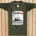 2016 Новая коллекция весна осень корабль мода марка стиль с длинным рукавом футболки для мужчин печати мужской о шеи бренд хип-хоп футболки М-6XL