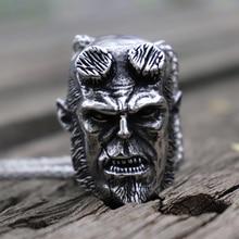 Mens Heavy Hellboy Devil 316L Stainless Steel Pendant Necklace Punk Rock Biker Jewelry цены онлайн