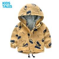 Cartoon Pattern Baby Boy Jacket Autumn New Fashion Brand Kids Outerwear Coats Boys Clothes Children Windbreaker