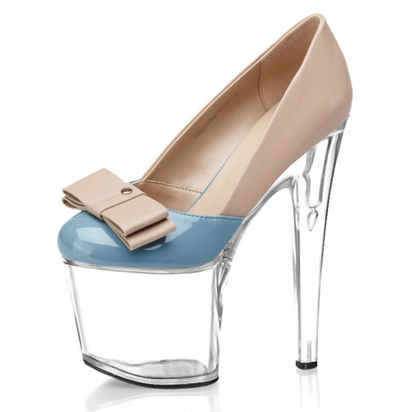 ФОТО Spring and summer new fashion high heels nightclub bar T stage bow 2017 sell like hot cakes