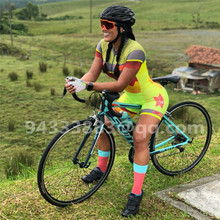 2019 FRENESI pro team triathlon suit summer women cycling skinsuit jumpsuit roupa ciclismo feminina MTB swimsuit custom