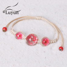 Luyun Bracelet Female Plant Dried Flower Adjustable Rope Bohemian Ethnic Necklace Wholesale