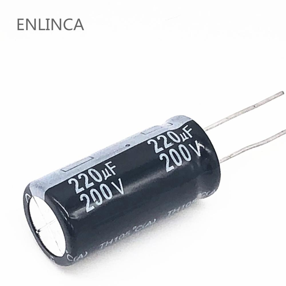 10pcs/lot <font><b>220UF</b></font> <font><b>200v</b></font> <font><b>220UF</b></font> aluminum electrolytic capacitor size 18*30mm S64 20% image