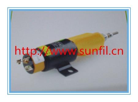 1751-1267UIB1S5A  Stop Solenoid Excavator 3864274,12V,Free shipping pc400 5 pc400lc 5 pc300lc 5 pc300 5 excavator hydraulic pump solenoid valve 708 23 18272 for komatsu
