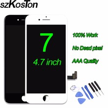 Grade Original SZKOSTON LCD For Apple iPhone 7 LCD Display With Touch Screen Digitizer Assembly Replacement 4.7 inch black white