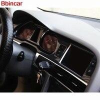 Bbincar ABS Plastic Carbon Fiber Wood Paint Front Interior Dashboard Air Vent GPS Central Trim For Audi A6L A6 L 2005 2011 LHD