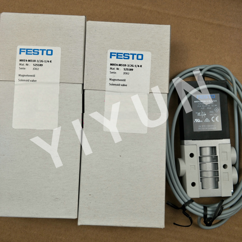 MHE4-MS1H-3/2G-QS-8 525191 MHE4-MS1H-3/2G-QS-8-K 525193 MHE4-MS1H-3/2G-1/4-K 525189 MHE4-M1H-3/2G-1/4 FESTO Solenoid valve tle6251g tle6251 2g