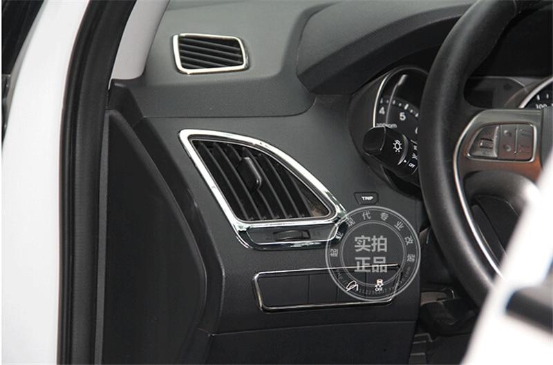 For HYUNDAI ix35 air condition outlet ABS Chrome trim auto accessories decoration 4pcs per set nitro triple chrome plated abs mirror 4 door handle cover combo