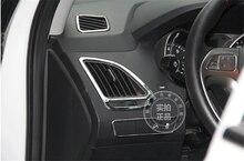 For HYUNDAI ix35 air condition outlet ABS Chrome trim auto accessories decoration 4pcs per set