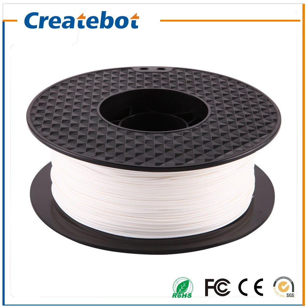 PLA 1.75mm 3D Printer Filament 1kg for Createbot White Color High Quality 3d plastic filament flsun 3d printer big pulley kossel 3d printer with one roll filament sd card fast shipping
