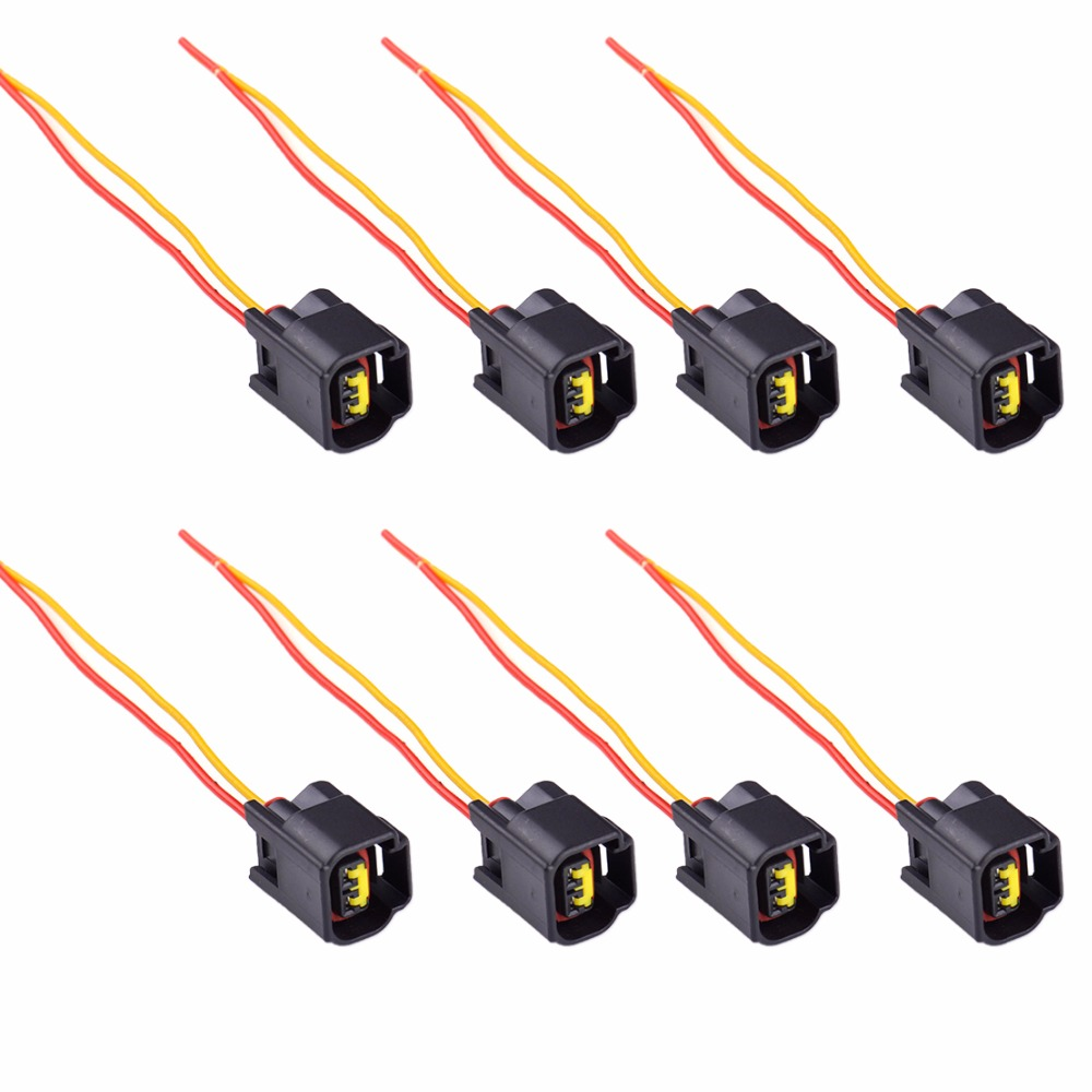 DWCX 8x Ignition Coil Harness Connector Modular For Ford Focus Mustang Edge  4.6L 5.4L 6.8L 1991 2006 2007 2008 2009 2010 2011-in Cables, Adapters &  Sockets ...