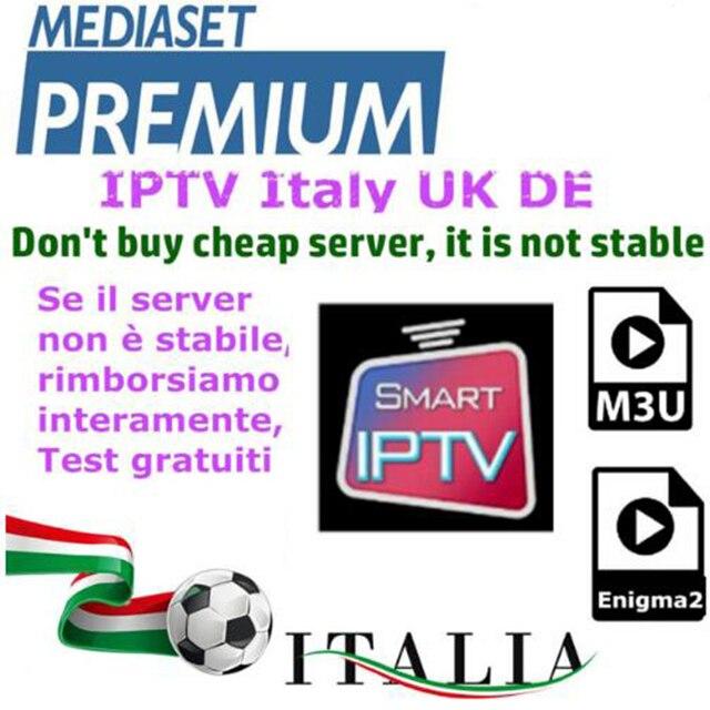 Italie IPTV M3U abonnement IPTV pour 6000 + canaux mediaset premium support Android ios smart tv mag250 pc enigma2Italie IPTV M3U abonnement IPTV pour 6000 + canaux mediaset premium support Android ios smart tv mag250 pc enigma2