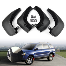 CITALL  # New Hot Mud Flaps Splash Guards Mudguard Mudflaps Fenders 4 PCS Black For KIA Sportage 2005 2006 2007 2008 2009 2010