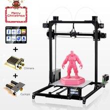 Flsun 3d принтер высокой точности большой размер печати 3d принтер сенсорный экран двойной экструдер с подогревом кровать один рулон нити Подарок