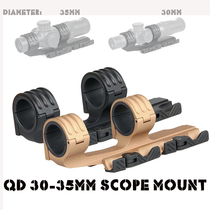 ФОТО Free Shipping Tactical Quick Detached 30-35MM Scope Mount Fits For  21.2MM Picatinny Rail CL24-0164