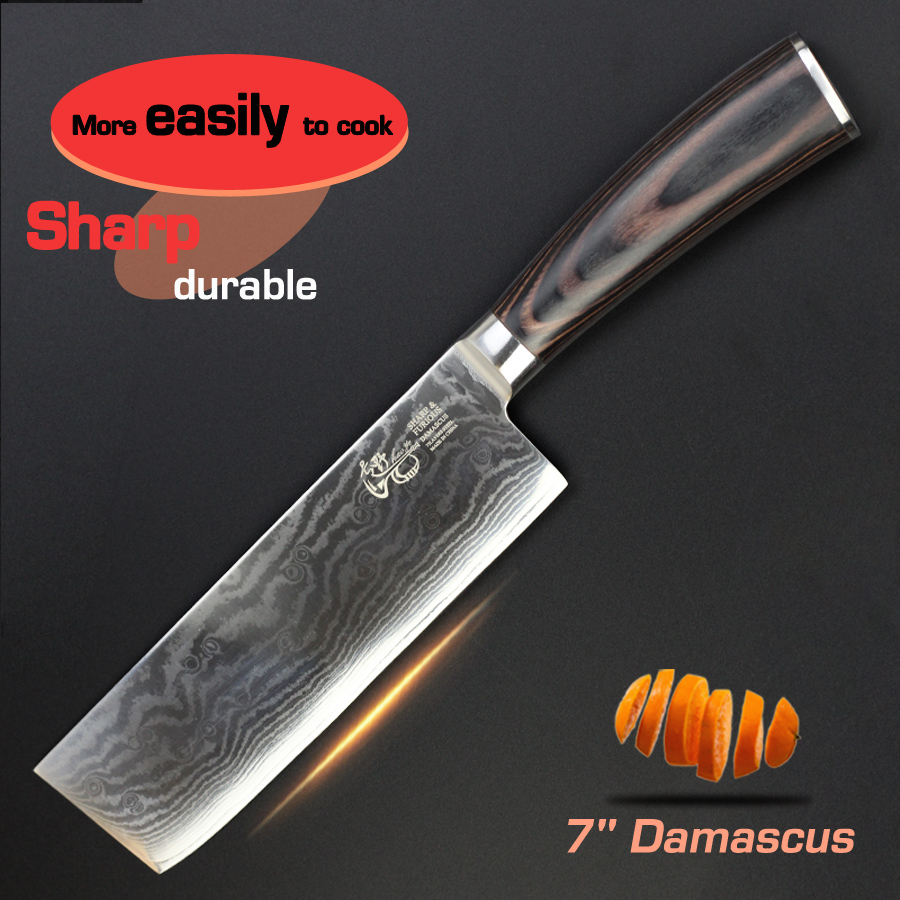 Дамаск Японский кухонный нож - Вырезать Тест - YouTube