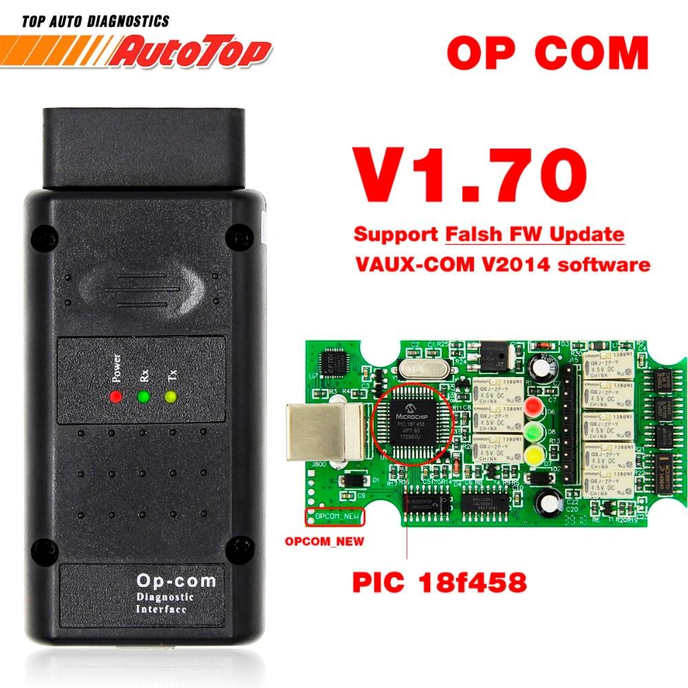 2019 OP COM for Opel V1.70 OBD2 OP-COM Car Diagnostic Scanner Real PIC18f458 OPCOM for Opel Car Diagnostic Tool Flash Firmware new garmin watch 2019