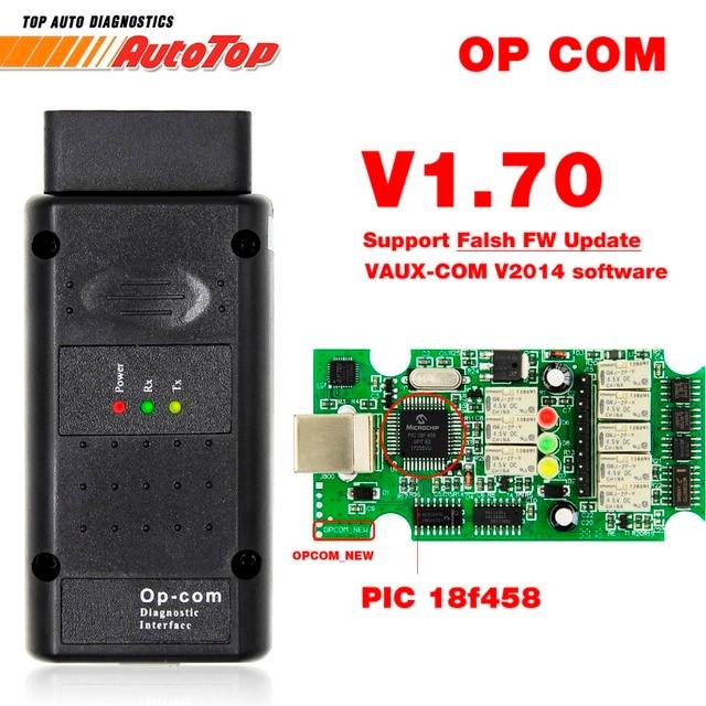 2019 OP COM for Opel V1.70 OBD2 OP-COM Car Diagnostic Scanner Real PIC18f458 OPCOM for Opel Car Diagnostic Tool Flash Firmware