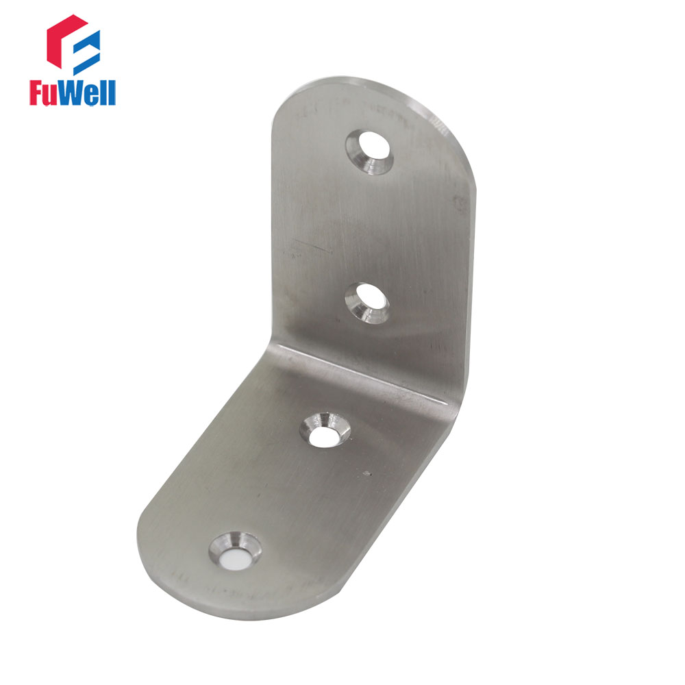 2pcs 50mm x 38mm 90 Degree Angle Bracket Stainless Steel 2.5mm Thickness Mending Repair Connector Corner Angle Bracket 2pcs 90 degree up