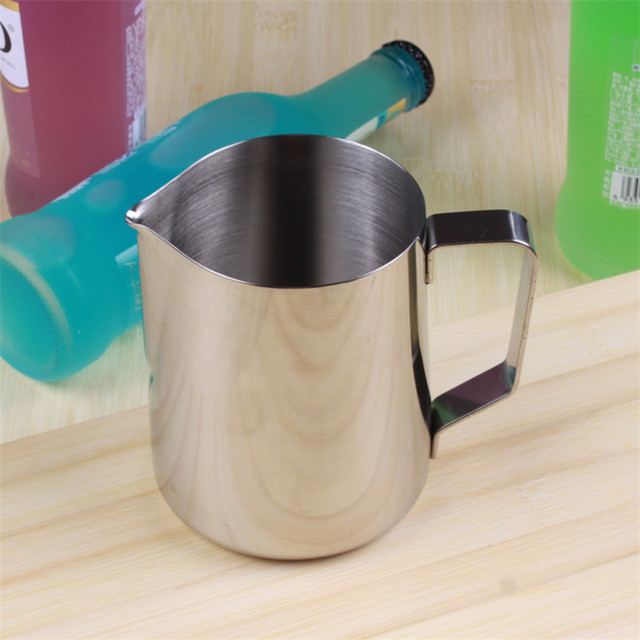 Thickened Japanese Style Coffee Pots Espresso Coffee Milk Jugs Mugs Frothing Cup Handle Craft Coffee Garland Cup Stainless Steel