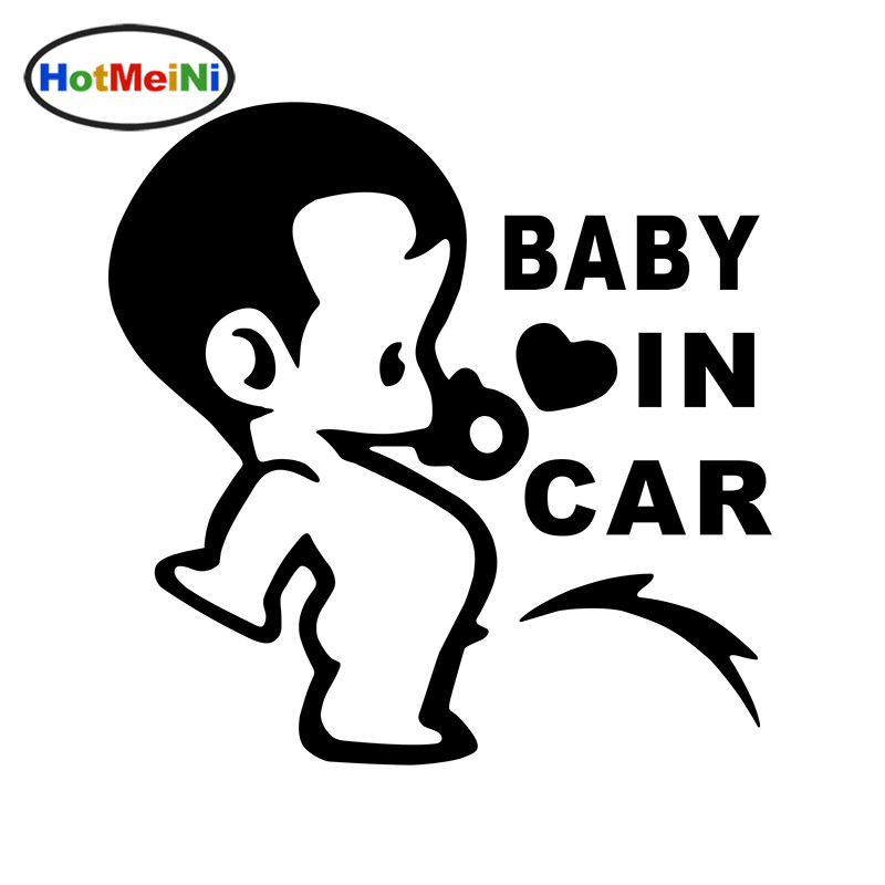 HotMeiNi car styling Lovely Funny JDM Child Boys Baby In Car On Board Car Sticker for Window Bumper Camping Cute Vinyl Decal drip biohazard skull respirator funny vinyl decal sticker car window bumper diy self adhesive car styling art stickers