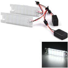 2pcs 12V SMD 3528 White Light 18 LEDs License Plate Lamp for Vauxhall Opel Astra Corsa C D Astra H J Zafira B