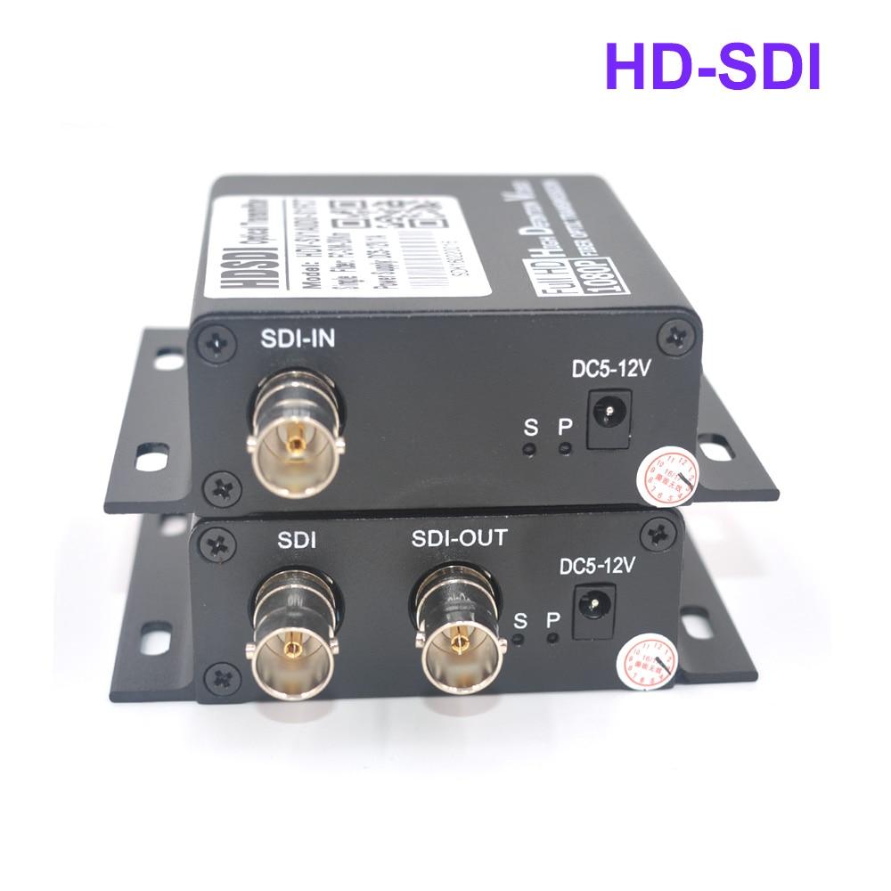 imágenes para De alta Calidad de Fibra óptica media converter para HD SDI HD-SDI Transmisor y Receptor de señal de Audio y Vídeo a través de fibra 1 par