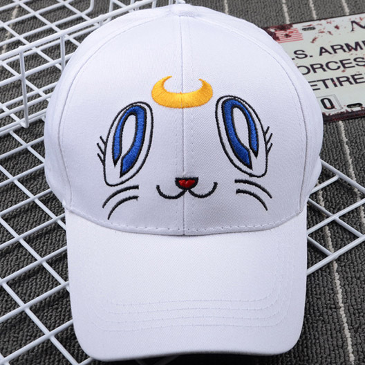 Japan Anime Sailor Moon Peaked Cap Baseball Cap Sunhat Cosplay Hat Cartoon Hat
