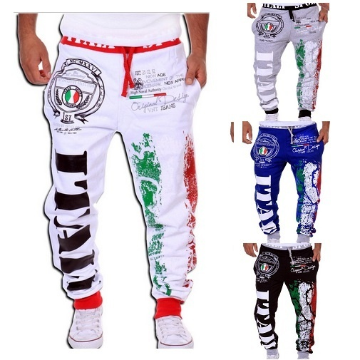 New Men's Sports Pants Flag Of Italy Printing Casual