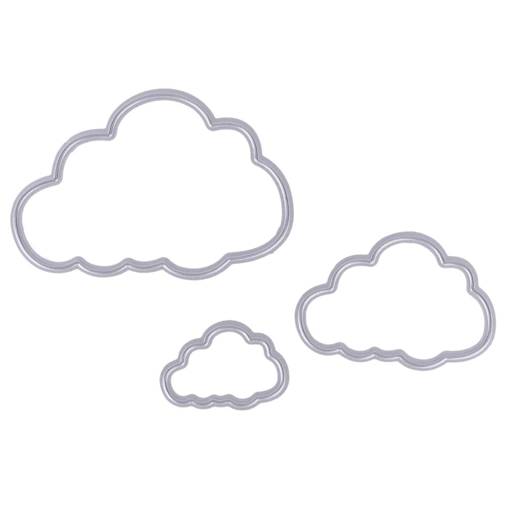 3 unids nubes metal Recortes de papel plantillas para DIY ...
