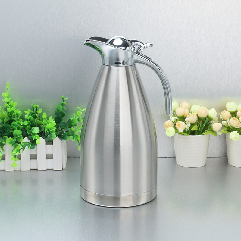 1 5L 2L Stainless Steel Teapot 4 Colors Vacuum Flasks Thermos Coffee Thermoses Mug Hot Water