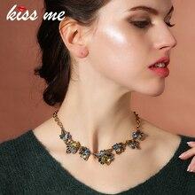 KISS ME New Statement Necklace Fashion Women Jewelry Antique Geometric Pendant Necklace