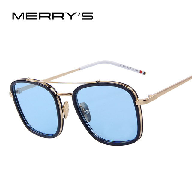 MERRY S Fashion Women Brand Designer Double-Bridge Sunglasses Unisex Steampunk  Sunglasses Oculos de sol UV400 4d469ecd08