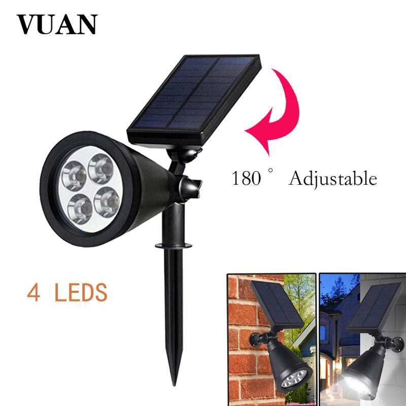 vuan 4led solar landscape lights waterproof outdoor lighting 2in1 wall lights auto onoff for backyard driveway patio gardens