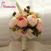 New Bridal Bouquet 2018 Wedding Artificial Flowers Bouquet For Bridesmaids Pink Cheap Gros Bouquets De Mariage Bruidsboeket