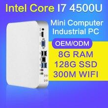 XCY Мини Игровой Компьютер I7 4500U I5 4200U I3 4010U 8 Г RAM DDR3 128 Г SSD Msata Мини Случай Настольных ПК Мини-ПК Настольный Компьютер ПК