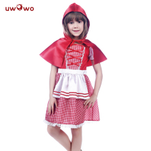цена на UWOWO Little Red Riding Hood Cosplay Anime Halloween Costume For Kids Red Baby Costume Halloween Child Party Cosplay