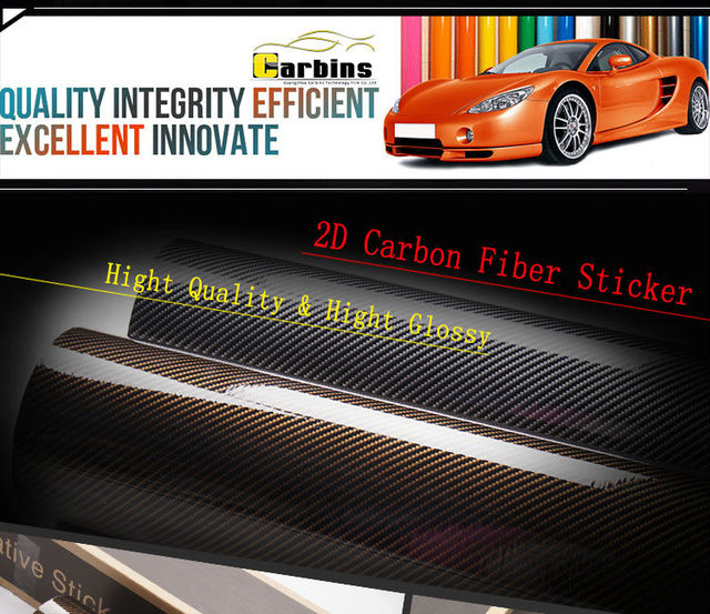 2d carbon fiber vinyl film glossy carbon silver car stickers for car body restyling car
