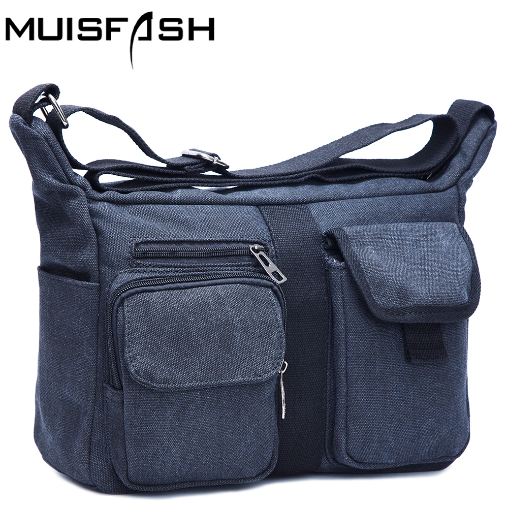 Canvas Men Handbags Vintage Shoulder Bags for Male Fashion Messenger Bags Crossbody Bags Canvas Military Men